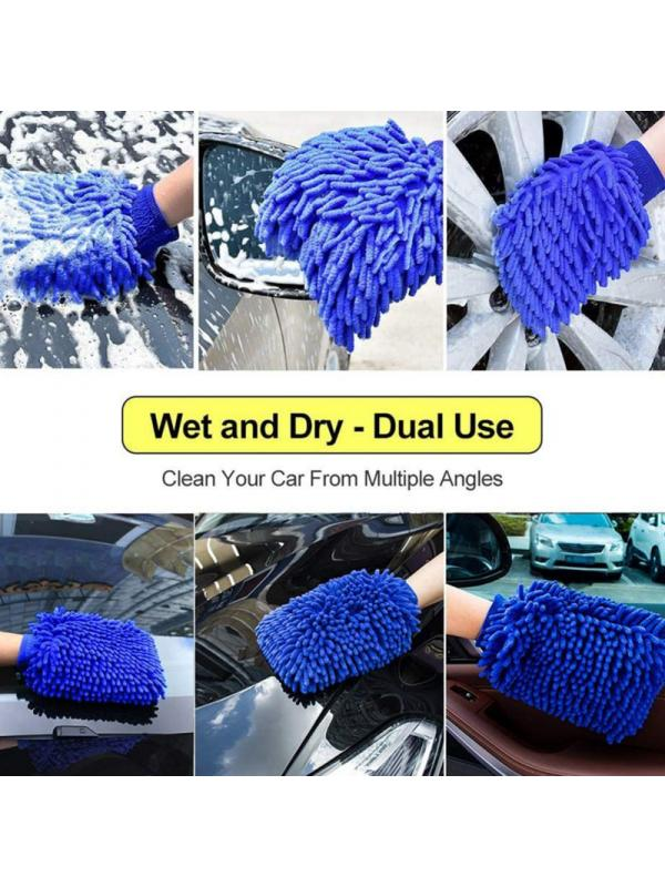 Microfiber Wash Mitt Soft easy to wash and dry 2pcs Blue NEW!