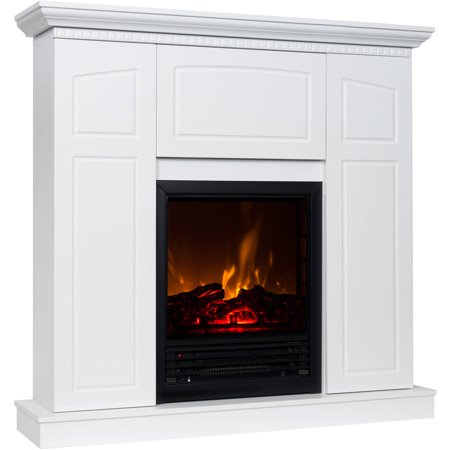Electric Fireplace With 40 Mantle And Storage At Winter Supply Store