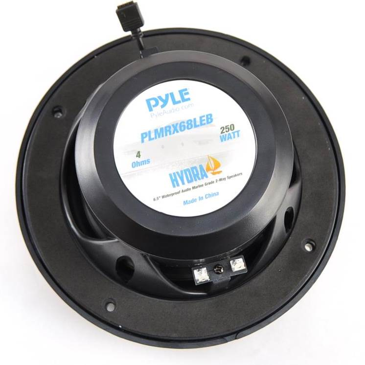 "Pair PLMRX68LEW 6.5/"" Marine waterproof Stereo Speakers W//LED Lights /& Remote"
