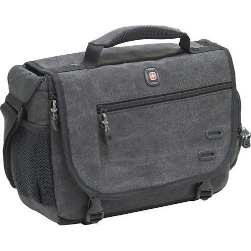 SwissGear ZINC Messenger Digital SLR Camera Bag For Canon EOS, Rebel, Nikon D Series, Sony Alpha, Panasonic... by SWISSGEAR