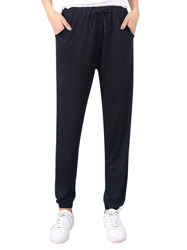 Ropalia Women Yoga Gym Running Sports Harem Trousers Jogger Casual Loose Pants
