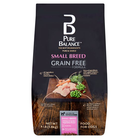 Pure Balance Small Breed Grain Free Formula Chicken & Garden