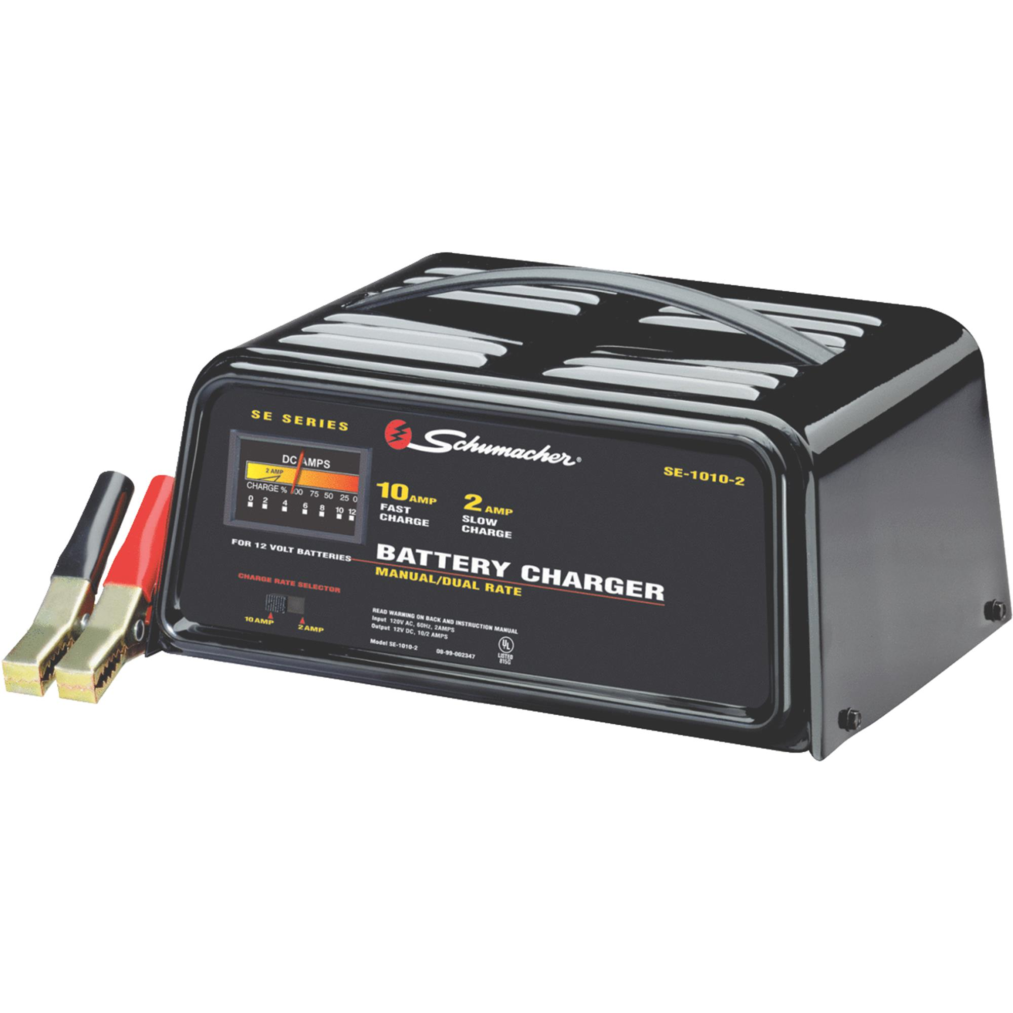 Schumacher 10/2 Amp Dual-Rate Manual Charger