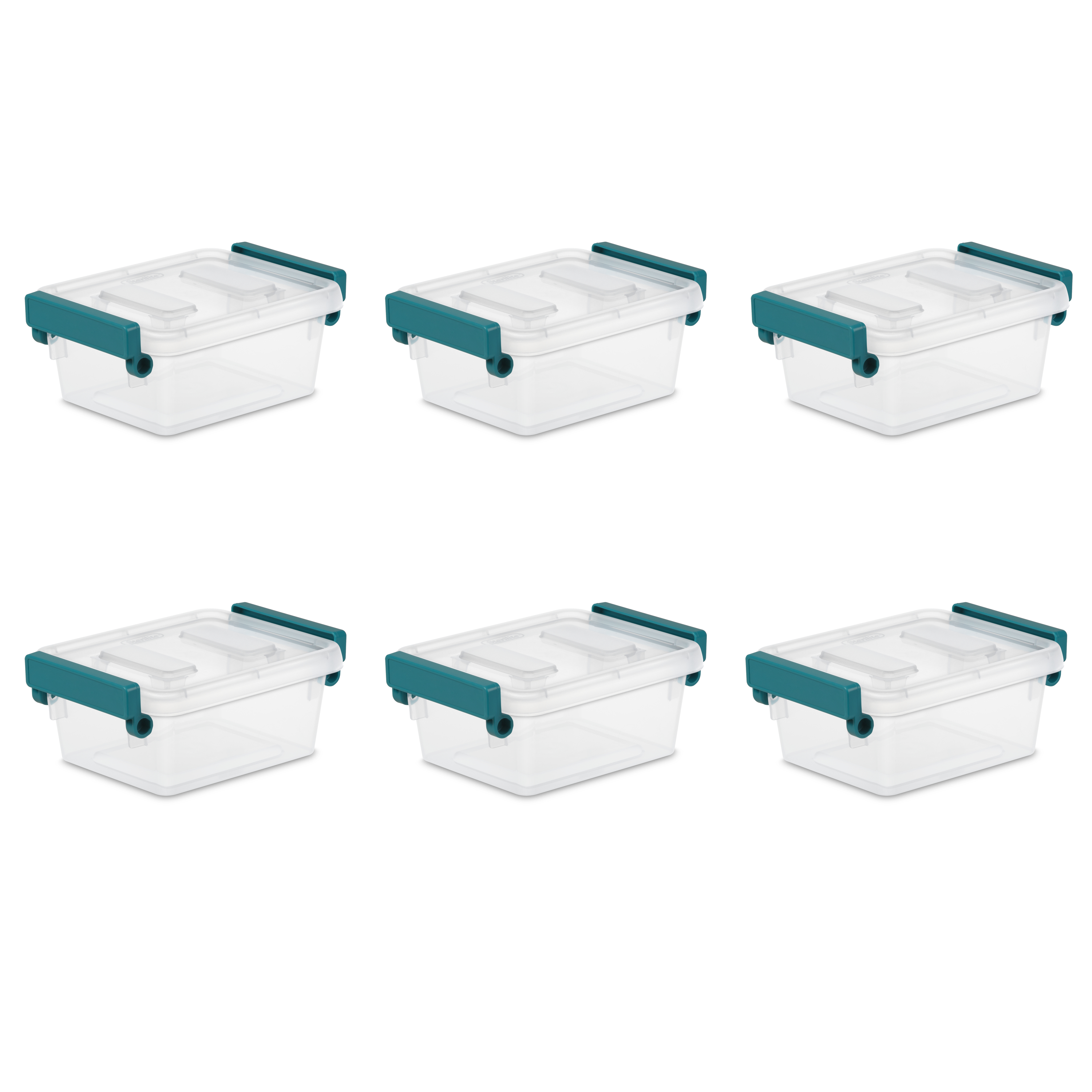 Sterilite, 1.2 Qt./1.1 L Modular Latch Box, Case of 6