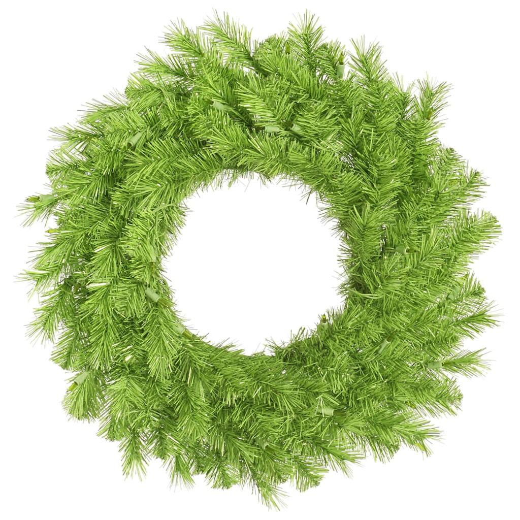 "Vickerman 33057 - 36"" Lime / Green Tinsel Christmas Wreath (A147936)"