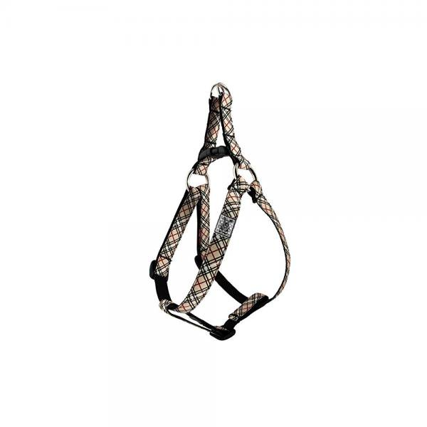 rc pet products 5/8 step in dog harness, small, tan tartan