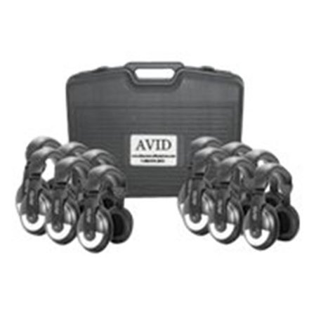 Avid Education 8Edu 12Cpsm 25 Headphones   Classroom Pack  44  Case  44  Black   Silver