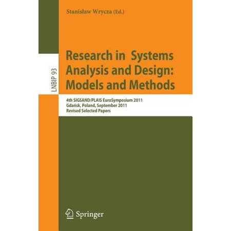 Research in Systems Analysis and Design: Models and