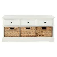 Safavieh Damien 3 Drawer Indoor Storage Bench