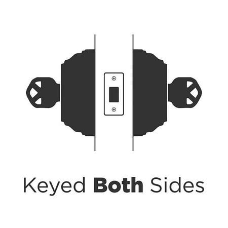 03d39864cf65 Kwikset 985 Series Double Cylinder Keyed Both Sides Deadbolt, Venetian  Bronze