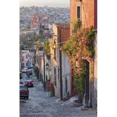Mexico, San Miguel de Allende. Street scene with overview of city. Print Wall Art By Don