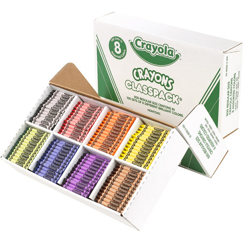 Crayola Classpack of Regular Crayons, 8 Colors, 800 Count Box