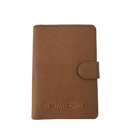 fc24d4b7ac7f Michael Kors - Michael Kors Jet Set Travel Saffiano Leather Passport Holder  Case Cover Wallet - Walmart.com