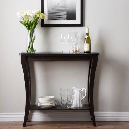 Furniture of america anjelle contemporary open shelf for 35 console table