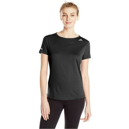 Adidas Women's Sequencials Climate Athletic Running Tee Shirt (Black, Large)
