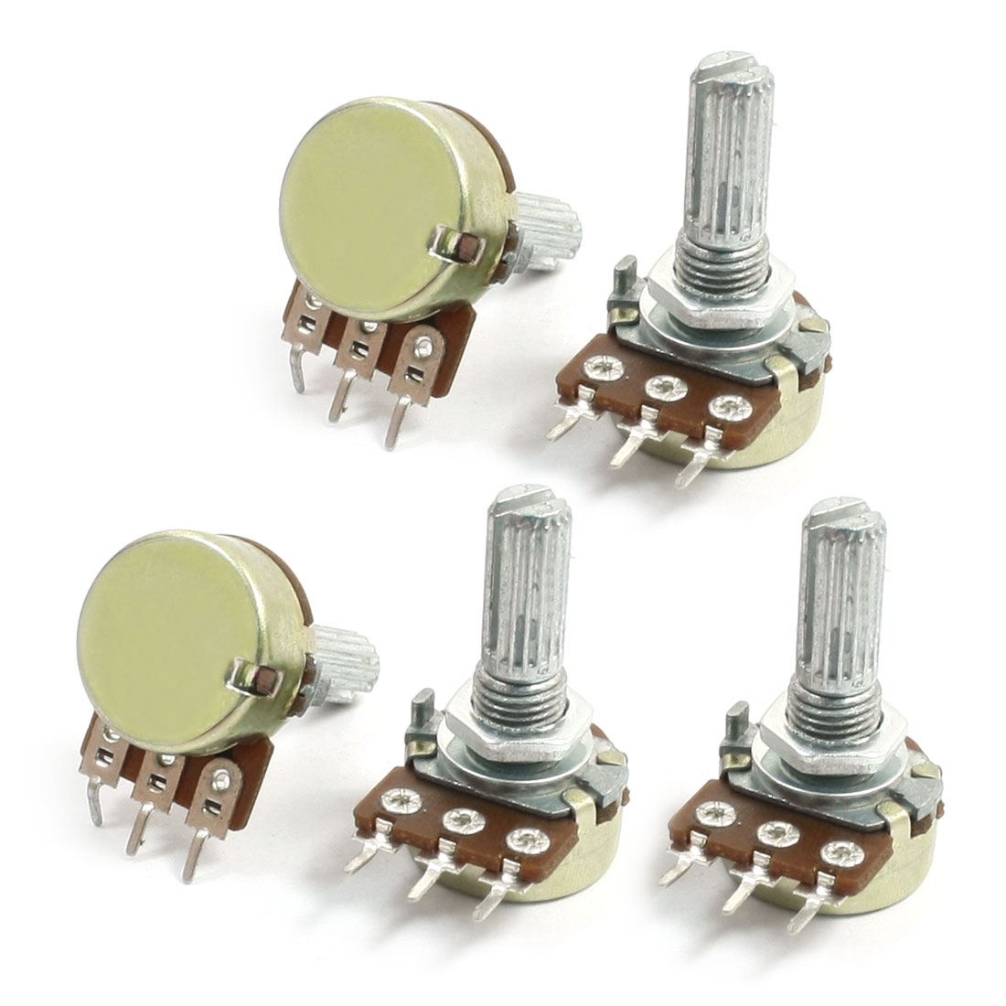 5Pcs B Type Top Adjustment Electric Guitar Potentiometer 50K ohm