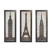 Sterling Industries Set Of 3 Iconic Cities Triptych