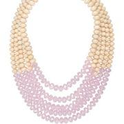 5 -row Lantern Bead Statement Necklace,