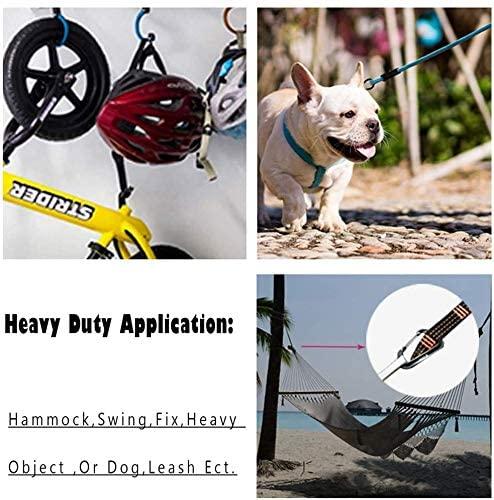 12KN//2697lbs Carabiners Heavy Duty Hiking /& Utility Aluminium Ultra Sturdy /& Light Caribeaners for Hammocks Camping Swing Locking Carabiner Clips 3 Pack Locking Dog Leash and Harness