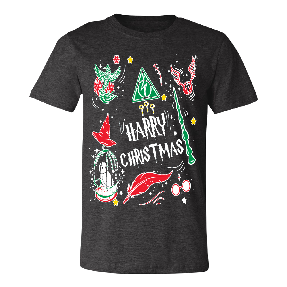 Harry Potter Muggles Hogwarts Sweater Funny Lightning Men's T-shirt Funny Christmas Tee Black Small