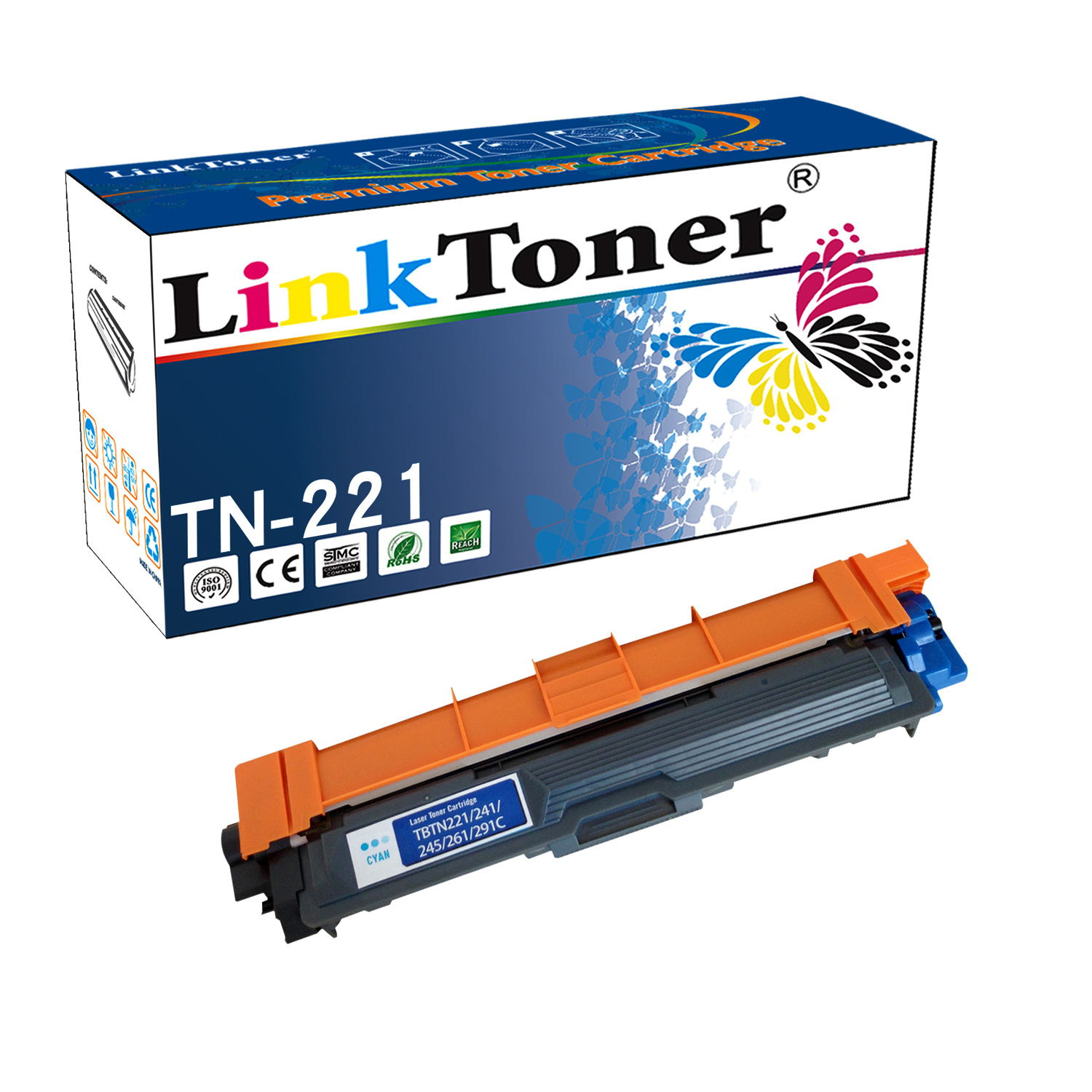 LinkToner TN221 Compatible Brother Toner Cartridge TN-221 BK for Brother Printer MFC-9130CW, 9140CDN, 9330, 9335