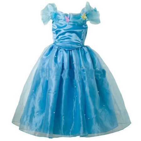 Inspired Cinderella Girls Deluxe Cinderella Costume  4-5yrs