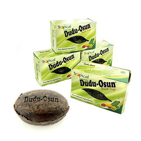3 Pack Tropical Naturals Dudu-Osun Black Soap Pure Natural Ingredients 5 Oz. US