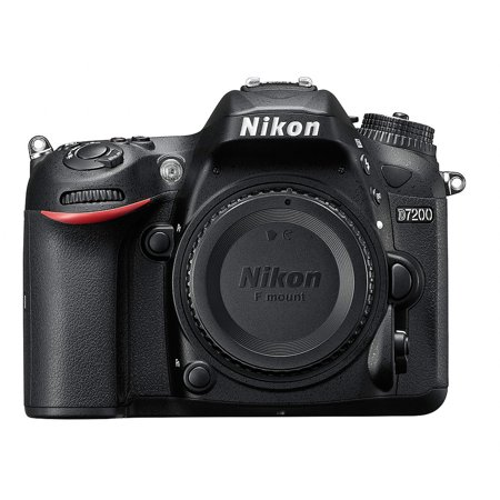 Nikon Black D7200 DX Digital SLR Camera with 24.2 Megapixels (Body
