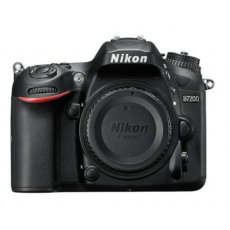 Nikon Black D7200 DX Digital SLR Camera with 24.2 Megapixels (Body Only)