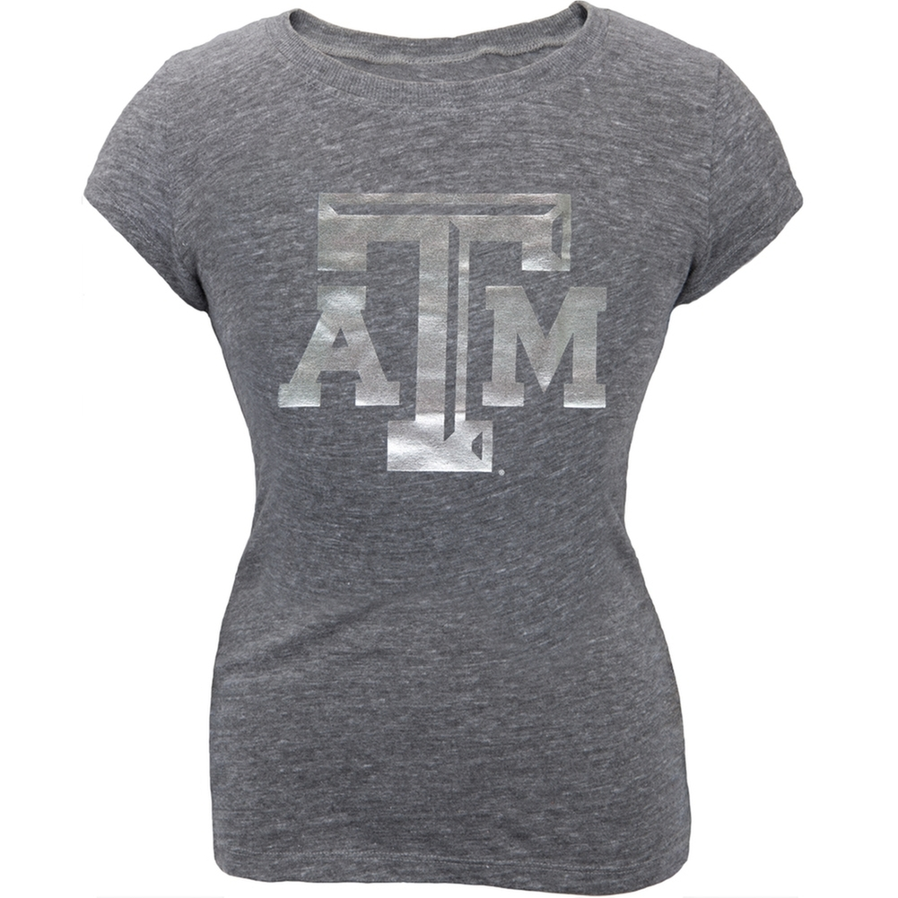 Texas A Aggies - Big Foil Logo Girls Youth T-Shirt