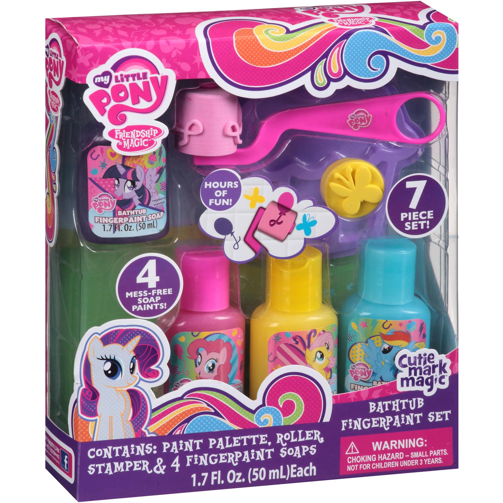 My Little Pony Friendship is Magic Bathtub Fingerpaint Set, 7 pc ...