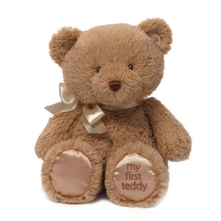 First Christmas Teddy Bear (Baby My First Teddy Bear Stuffed Animal Plush in Brown, 10