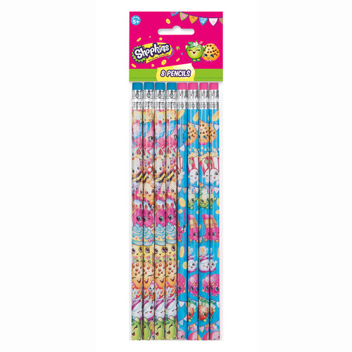 Shopkins Pencils, 8-Count
