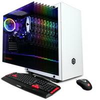 CYBERPOWERPC Gamer Xtreme GXi11368W w/ Intel Core i3-9100F 3.6GHz, AMD Radeon RX 580 4GB, 8GB Memory, 240GB SSD, 1TB HDD, WiFi and Windows 10 Home 64 bit Gaming PC