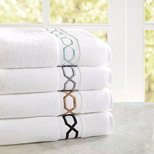 Home Essence Circuit 700GSM Embroidered Cotton Towel Set by E&E Co.Ltd