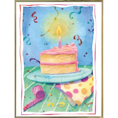 The Holiday Aisle 'Birthday Cake' Print