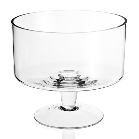 Badash Crystal Lexington Glass Trifle Decorative Bowl 9 in. ()