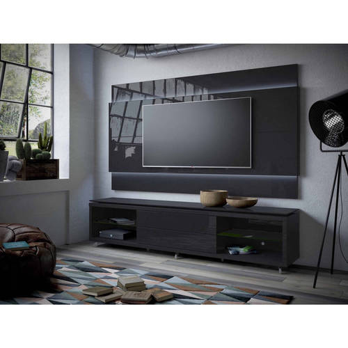Manhattan Comfort Lincoln Tv Stand With Silicon Casters And Lincoln