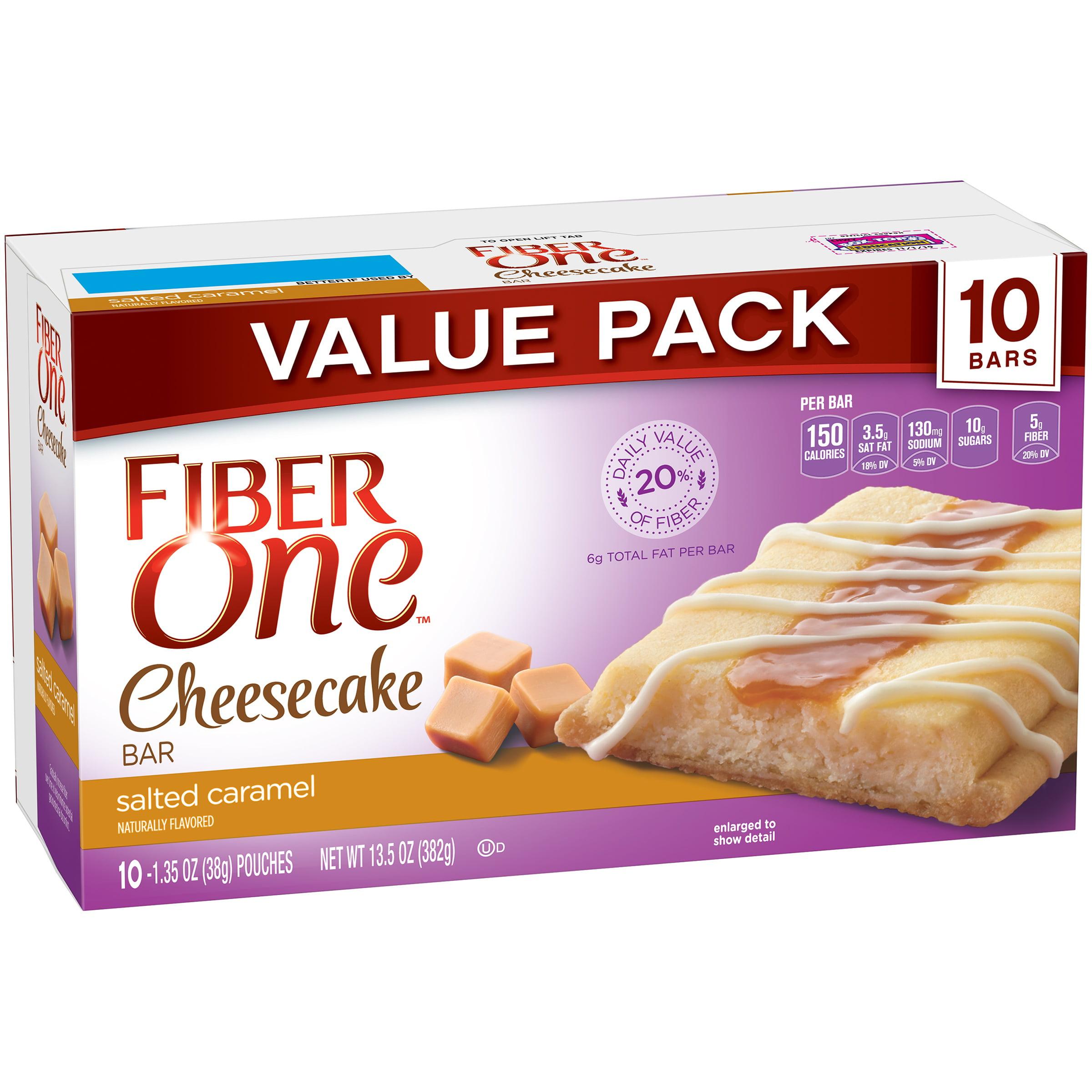 Fiber One Cheesecake Bar Salted Caramel 10 1.35 oz Bars by General Mills Sales, Inc.