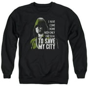 Arrow Save My City Mens Crew Neck Sweatshirt