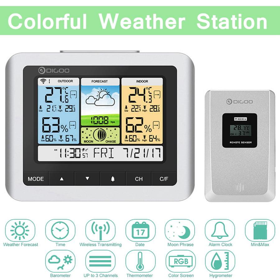 DIGOO DG-TH8888Pro Wireless Weather Station Barometer Thermometer Sensor NEW US