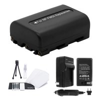 UltraPro NP-FM50 High-Capacity Replacement Battery with Rapid Travel Charger for Select Sony Digital Cameras. UltraPro Bundle Includes: Camera Cleaning Kit, Camera Screen Protector, Mini Travel Tripod