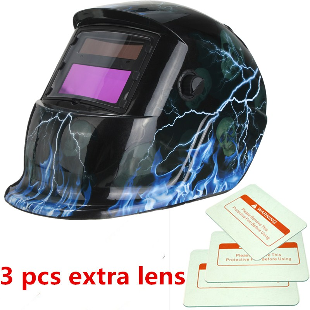 Largest Viewing Area: 4 x 4 Auto Darkening Ergonomic Headgear Photovoltaic Powered Model: Vector Color: Black S/ÜA Welding Helmet