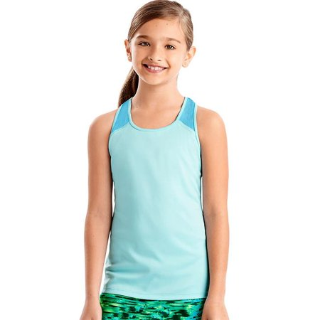 - Small Sport Girls Performance Tank, Turquoise Tint