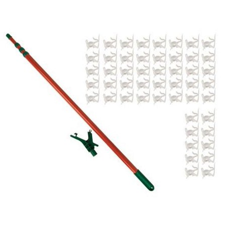 11' Telescoping Christmas Tree Decorating Pole for Hanging Lights ...