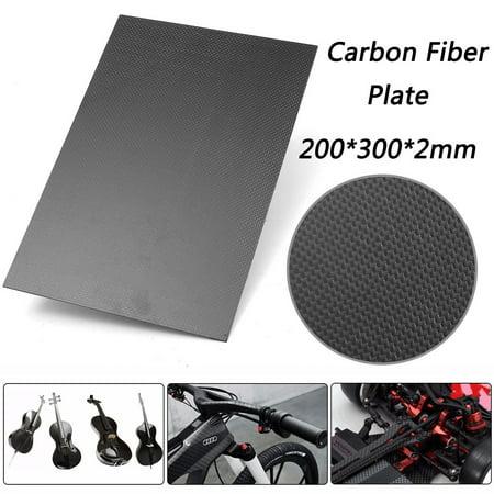 200×300×2mm With 100% Real Carbon Fiber Plate Panel Sheet 3K Plain Weave OY Wrap Vinyl Sticker Decal 100% Carbon Fiber