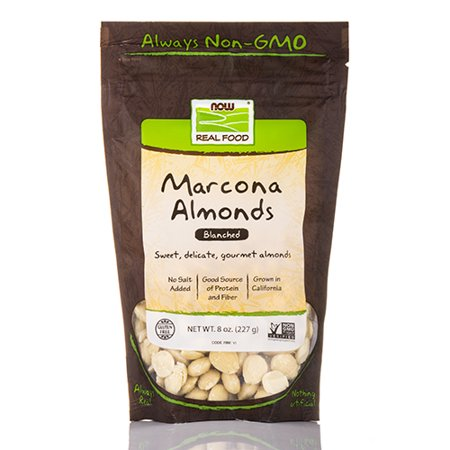 NOW Real Food - Marcona Almonds (Blanched) - 8 oz (227 Grams) by