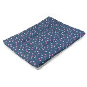 Dog Terry Cloth Rectangle Shaped Wave Point Printed Blanket Bed Cushion Size L