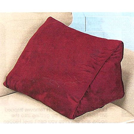 18u0022 WEDGE PILLOW WITH REMOVABLE COVER - BURGUNDY