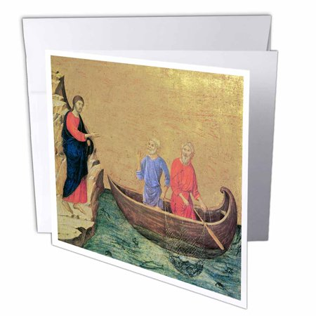 - 3dRose The Calling of the Apostles Peter and Andrew by Duccio Di Buoninsegna, Greeting Cards, 6 x 6 inches, set of 12